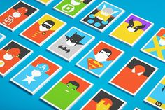 Colorful, Minimalist Postcards Of Superheroes #minimalist #colorful #postcards #superheroes
