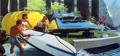 Retro-Futuristic Cars #retro #fi #sci #futuristic #car #future