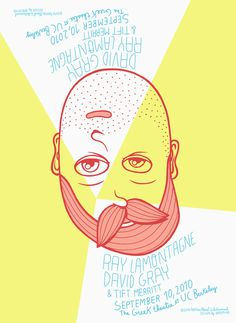 Upside Down, by Brosmind #inspiration #creative #down #beard #design #graphic #yellow #illustration #poster #upside
