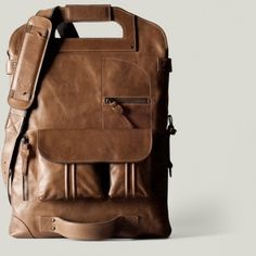 hard graft | One of a Kind Foldable Leather Laptop Bag #bag #leather