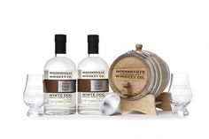 Age Your Own Whiskey Kits - TheDieline.com - Package Design Blog #whiskey #bottle #packaging #design #woodinville #wood #kit