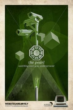 The Pearl | Flickr: Intercambio de fotos #movie #design #graphic #hanso #initiative #dharma #vintage #poster #collage #lost
