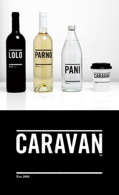 Caravan Identity | AisleOne #packaging #white #black #typography