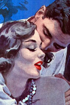 Al Buell | Flickr - Photo Sharing! #vintage #kiss #love #retro #50s #girl #couple #seduction #pin up #pulp #design #art