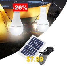 BLS #- #70 #- #25D #Portable #Bulb-shape #Solar #Power #Light #for #Camping #- #WHITE