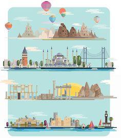 Illustrations of Turkey for Skylife