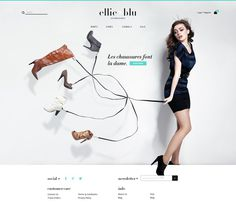 Ellie Blu Homepage #ux #commerce #design #ui #e #web #fashion