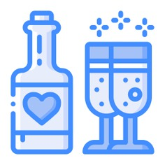 See more icon inspiration related to food and restaurant, alcoholic drinks, wine bottle, wines, romantic, celebration, alcoholic, cups, alcohol, dinner, wine, bottle, food, drink and cup on Flaticon.