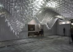 Paper Chandeliers installation by Cristina Parreño Architecture and MIT #intallation