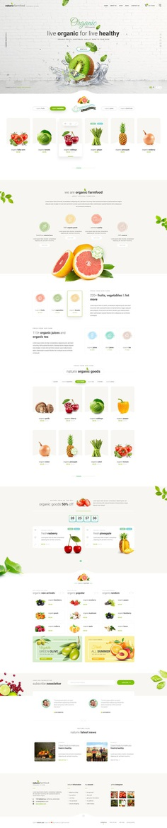 Naturix - Organic Store on Behance