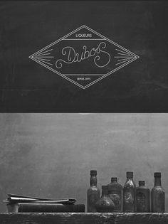 Dubois Liqueurs clean script, via Convoy #cursive #type #script #logotype