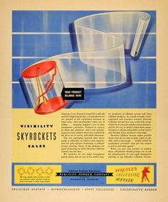 1940 Ad Hercules Powder Cellulose Acetate Plastics - ORIGINAL ADVERTISING F4A