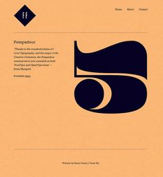 Simon Foster | Free Faces #pompadour #typography