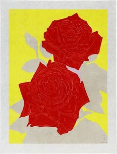 Gary Hume - Two Roses for Sale | Artspace #red #yellow #contemporary #art #flowers