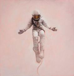 Wild, Young, and Free #art #painting #astronaut #jeremy geddes