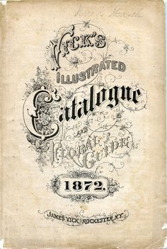 Seed Catalogs from Smithsonian Institution Libraries #calligraphy #typography