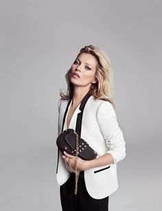 Kate Moss by Inez & Vinoodh for Mangos Winter Campaign
