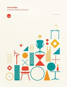 Herman Miller brochure cover, Gavin Potenza #miller #iconography #potenza #illustration #gavin #herman