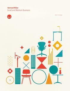 Herman Miller brochure cover, Gavin Potenza #miller #iconography #potenza #illustration #gavin #herman
