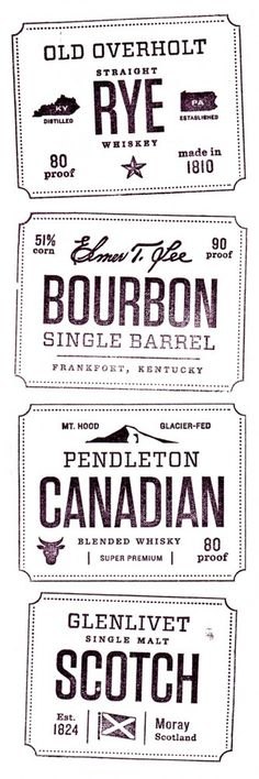 Whiskey Friends ‹ Jen Wick Studio #stamp #brand #whiskey #typography