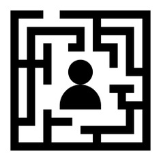 See more icon inspiration related to labyrinth, maze, business and finance, solution, puzzle, way, exit, person, people and road on Flaticon.