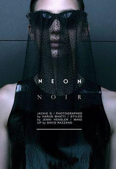 Neon Noir #noir #neon #pomade #typography #print #design #photography