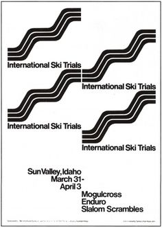 grain edit · Keating & Keating #international #white #ski #black #vintage #poster #trials #keatingkeating