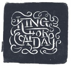 I wanna be… — Friends of Type #lettering