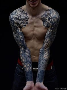 Pinned Image #pattern #hexagons #geometric #sleeves #tattoo