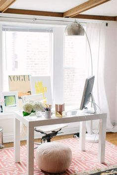 Likes | Tumblr #vogue #interior #lamp #silver #desk