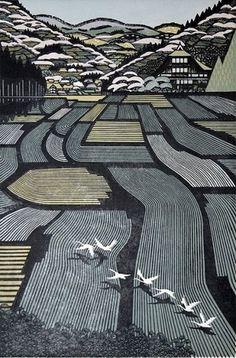 WILD THING: Ray Morimura #print #paint #woodblock #tokyo #ray morimura