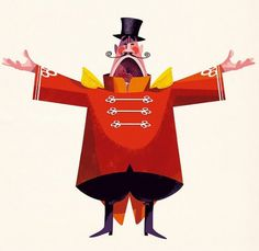 Jonas Bergstrand #illustration #red #character #inspiration #circus