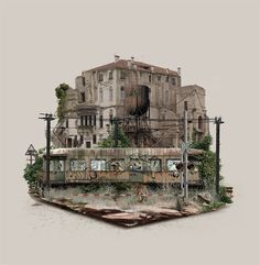 Islands Digitally Composed From Images of Abandoned Sites by Fabio Araujo | Colossal