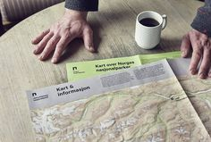 Norway's National Parks by Snøhetta #graphic design #map #print
