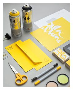 Identity & Collateral on Behance #yellow #branding #stationery