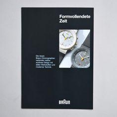 Braun neu Chronographen brochure ca 1990 via www.dasprogramm.org
