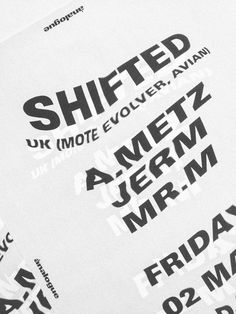 analogue: SHIFTED hellopanos #poster #typography