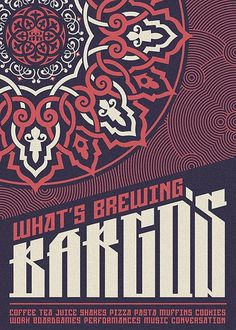 Bargo's on the Behance Network #flourish #lines #pattern #color #two #poster #decorative #typography