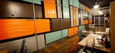 Graphic-ExchanGE - a selection of graphic projects #doors #color
