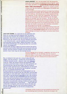 """garadinervi: """" Jan van Toorn, Documentaire no.07, 1978 """""""