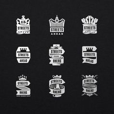 Streets Ahead logo process by Travis Price #logo #logos #king #crowns
