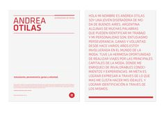 Andrea Otilas™ Identity on Behance #diseo #branding #design #minimalism #identity
