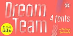 Fontspring | DreamTeam Fonts by Resistenza.es