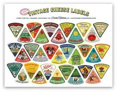 Wine and Cheese / Vintage cheese label craft! #packaging #design #graphic #vintage