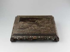 A MOTHER-OF-PEARL AND LACQUER INCENSE STAND, KANGXI