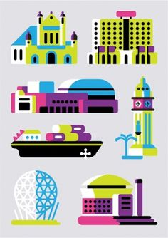 Google Reader (1000+) #awh #pink #always #geometric #map #illustration #colorful #honor #belfast #with