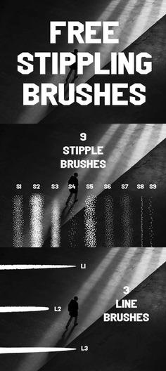 Free Stippling procreate brush set