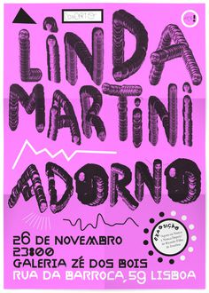 Poster, Adorno / Linda Martini – 12.2011 on Behance #type #poster