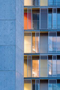Signalhuset / NOBEL #color #denmark #architecture #copenhagen #fields #facades