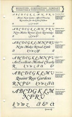 Monotype Caslon Swashes type specimen #type #specimen